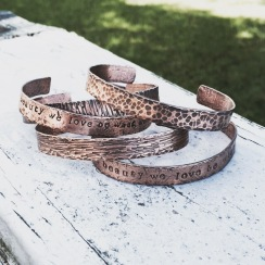 hammered copper bracelets